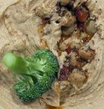 Hummus und Brokkoli Lizenzfreie Stockfotografie