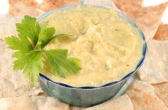 Hummus und pita Stockfotos
