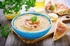 Hummus van kikkererwt en sesam Royalty-vrije Stock Foto