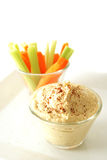 Hummus and vegetables Royalty Free Stock Images