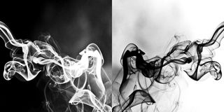 Humo abstracto Imagenes de archivo