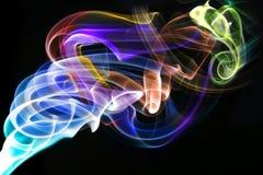 Humo abstracto con colores del arco iris imagen de archivo