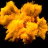 Humo amarillo Billowing Imagenes de archivo