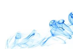 Humo azul Imagen de archivo