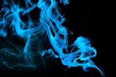 Humo azul abstracto Fotos de archivo libres de regalías