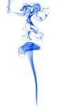 Humo azul en blanco Foto de archivo