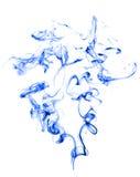 Humo azul en blanco Imágenes de archivo libres de regalías