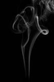 Humo blanco en fondo negro Fotografía de archivo libre de regalías