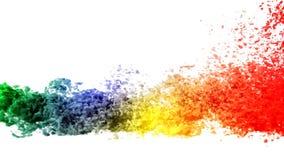 Humo coloreado stock de ilustración