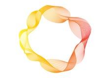 Humo colorido abstracto en blanco, para el diseño del fondo de la bandera Fotos de archivo libres de regalías