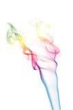 Humo colorido aislado Imágenes de archivo libres de regalías