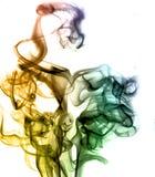 Humo colorido del arco iris Imagen de archivo