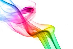 Humo colorido del arco iris Imagen de archivo libre de regalías