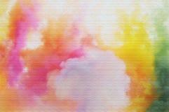 Humo colorido del saludo Imagen de archivo