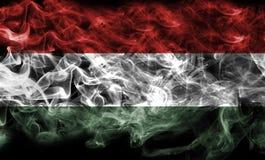Humo de la bandera de Hungría fotografía de archivo libre de regalías