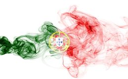 Humo de la bandera de Portugal Fotos de archivo libres de regalías