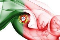 Humo de la bandera de Portugal Imagenes de archivo