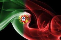 Humo de la bandera de Portugal Fotografía de archivo libre de regalías
