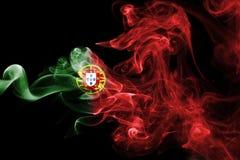 Humo de la bandera de Portugal Fotografía de archivo