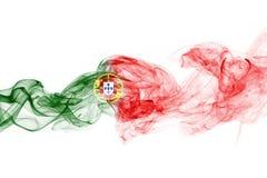 Humo de la bandera de Portugal Imagen de archivo