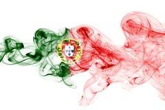 Humo de la bandera de Portugal Foto de archivo libre de regalías