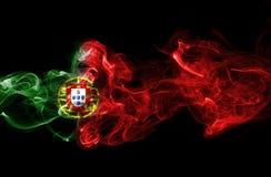 Humo de la bandera de Portugal Fotos de archivo