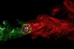 Humo de la bandera de Portugal Imágenes de archivo libres de regalías