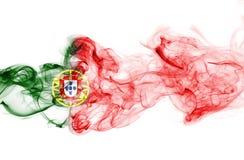 Humo de la bandera de Portugal Imagen de archivo libre de regalías