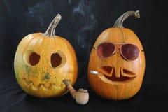 Humo de las calabazas de Halloween Foto de archivo