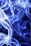 Humo de tabaco azul Imagen de archivo libre de regalías