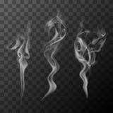 Humo del cigarrillo stock de ilustración
