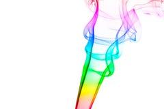 Humo del claxon del arco iris fotos de archivo