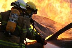 Humo del Firefight Fotografía de archivo libre de regalías