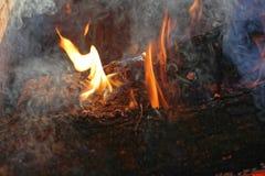Humo del fuego foto de archivo libre de regalías
