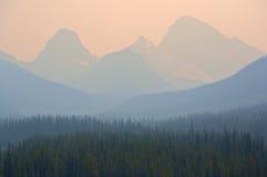 Humo del incendio forestal Fotos de archivo libres de regalías