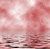 Humo en el agua ilustración del vector