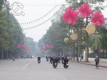 Humo en las calles Imagen de archivo libre de regalías