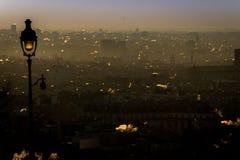 Humo en París Foto de archivo libre de regalías
