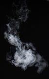 Humo en un fondo negro Modo de la mezcla de la pantalla Imagen de archivo