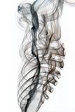 Humo negro abstracto Fotografía de archivo libre de regalías
