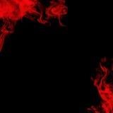 Humo rojo imagen de archivo