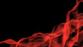 Humo rojo, horizontal Imagenes de archivo
