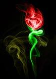 Humo rojo Rose Imágenes de archivo libres de regalías