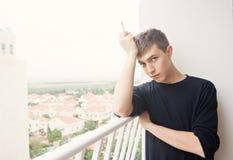 Humo solo en balcón Fotos de archivo libres de regalías