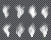 Humo transparente en oscuridad un fondo de la tela escocesa Imagenes de archivo