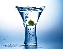 Humor azul Martini fotos de archivo