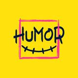 HUMOR brush style lettering Royalty Free Stock Photo