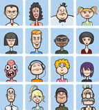 Humor cartoon faces collection. Vector illustration of humor cartoon faces collection. Easy-edit layered vector EPS10 file scalable to any size without quality Royalty Free Stock Photography