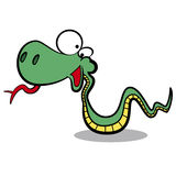 humor cartoon snake running Stock Image
