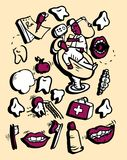 Humor da parte 1 da medicina ilustração stock
